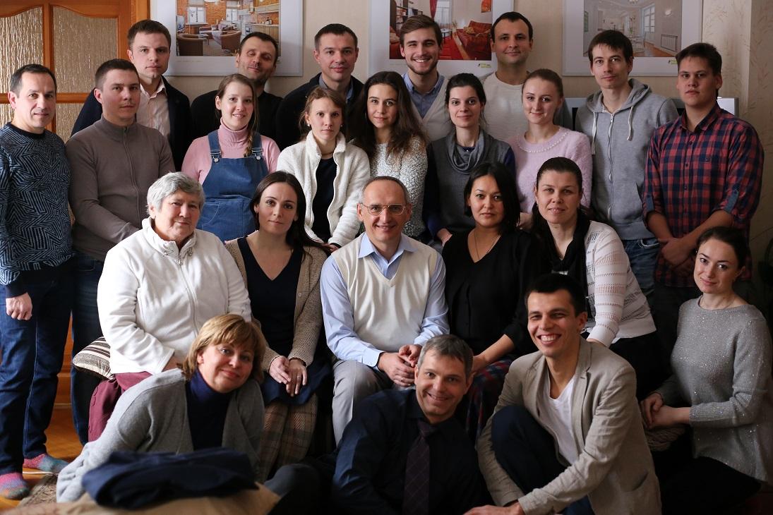 Встреча минского клуба благость и Олега Торсунова